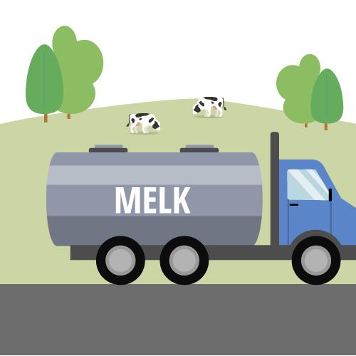 Tankwagen- melk